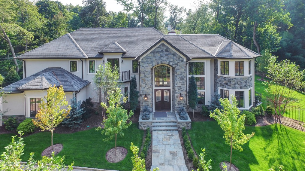 $3.49 Million Newly Built Stone & Stucco Colonial Mansion In Tenafly, NJ