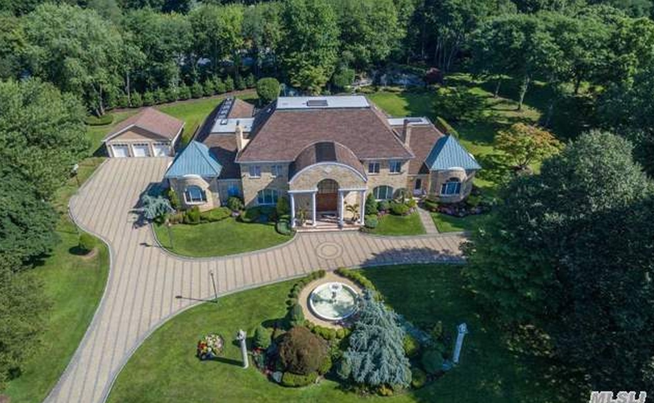15,000 Square Foot Brick Colonial Mansion In Glen Head, NY