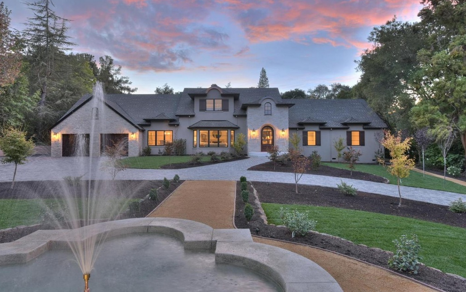 $5.38 Million Newly Built French Country Inspired Home In Saratoga, CA