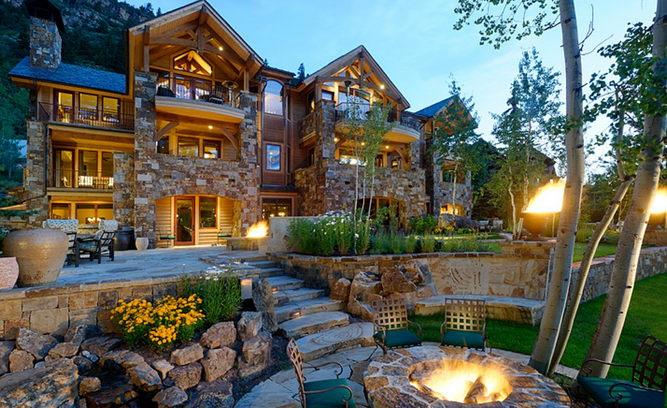 8 89 Million Mountaintop Mansion In Aspen Co Homes Of
