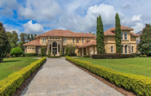 $4.295 Million Mediterranean Lakefront Mansion In Windermere, FL