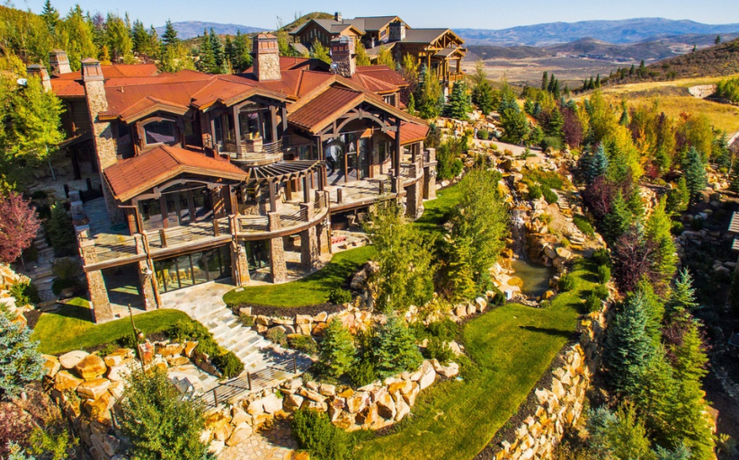 $11.3 Million 14,000 Square Foot Mountaintop Mansion In Heber City, UT