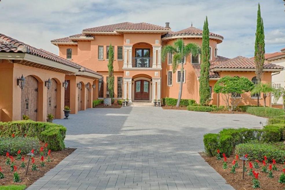 $3.5 Million Mediterranean Waterfront Mansion In Montverde, FL