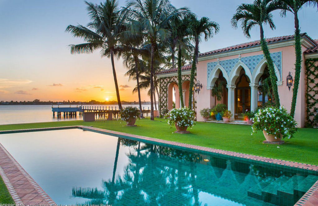 67 5 million venetian inspired waterfront mega mansion in palm beach fl homes of the rich - Palm beach swimming pool ...