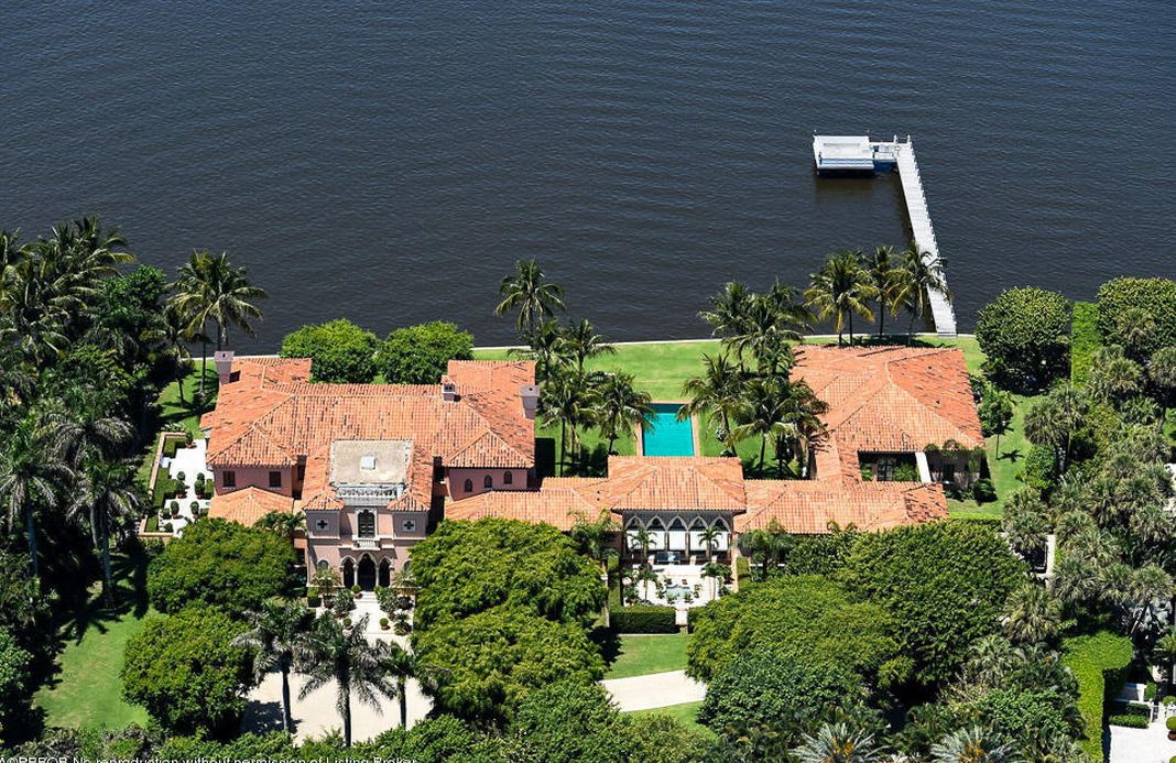 $67.5 Million Venetian Inspired Waterfront Mega Mansion In Palm Beach, FL
