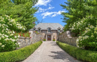 12,000 Square Foot Lakefront French Inspired Brick & Stone Mansion In Bloomfield, MI