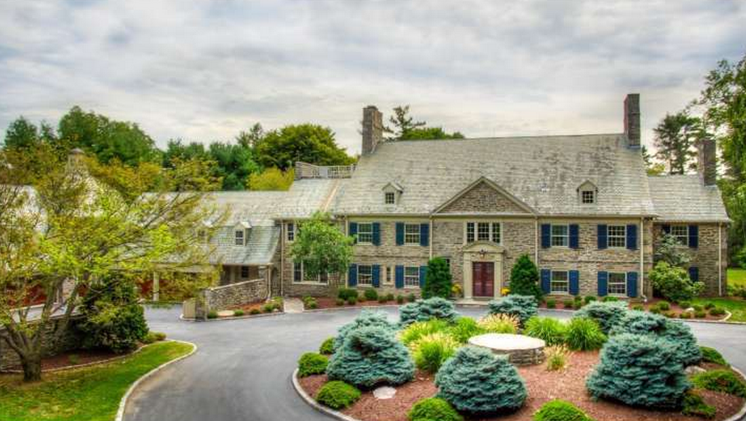 3 5 Million 11 000 Square Foot Colonial Stone Mansion In