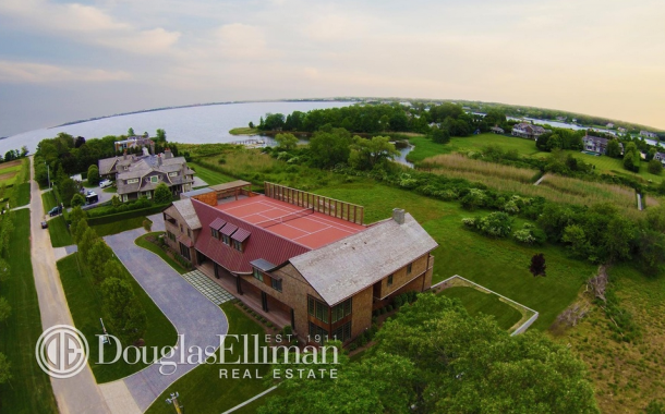 $17.9 Million Newly Built 13,000 Square Foot Mansion In Water Mill, NY With Rooftop Tennis Court