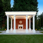 Covered Fireplace