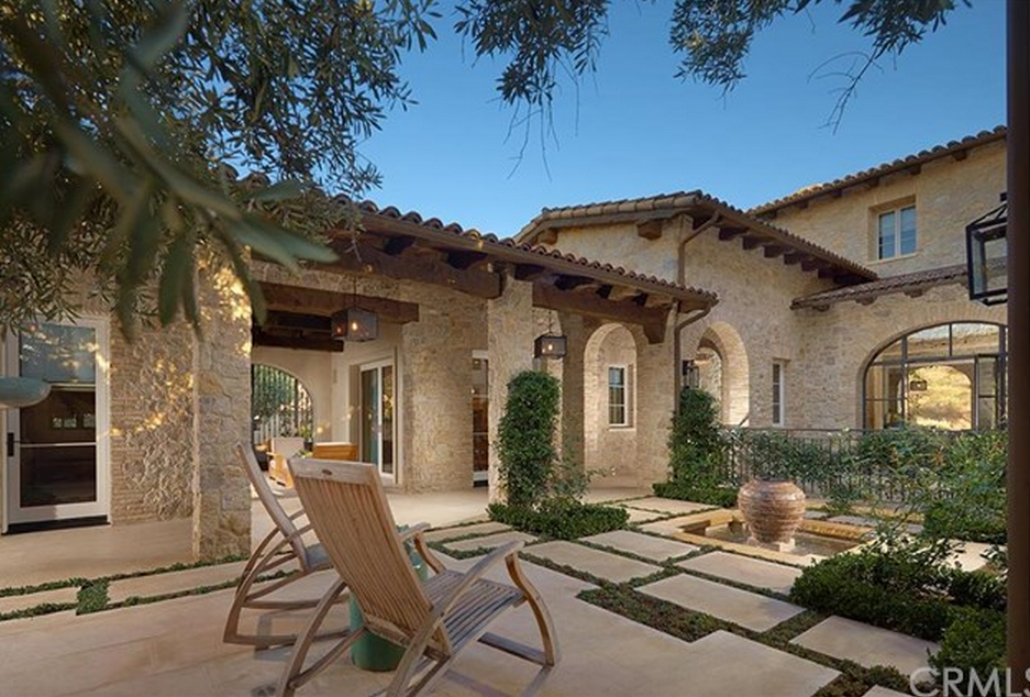 8 595 Million Italian Inspired Stone Mansion In Irvine