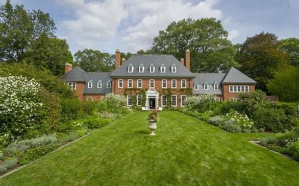 The Parson House – A $14.9 Million Historic Colonial Georgian Brick Mansion In Weston, MA