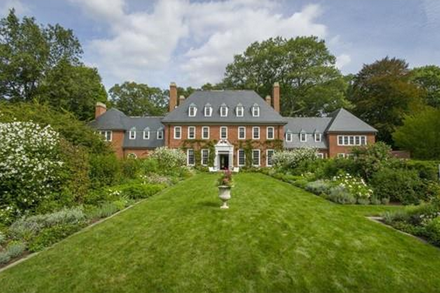 The Parson House - A $14.9 Million Historic Colonial Georgian Brick Mansion In Weston, MA