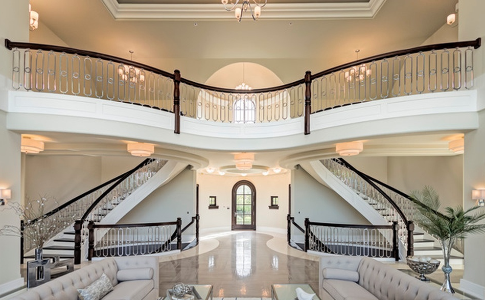 Exquisite 24 000 square french country stone mansion in for Exquisite stone