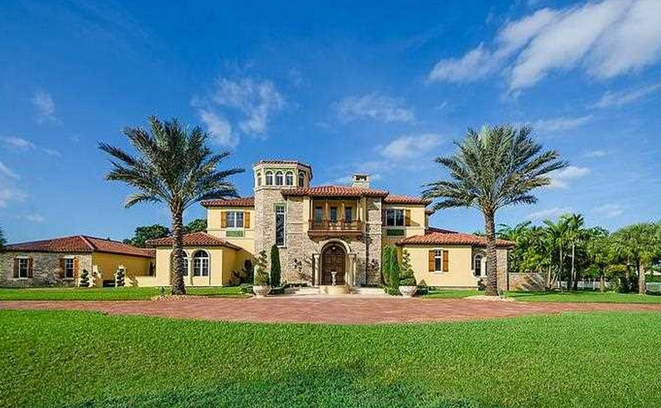 4 1 million mediterranean mansion in southwest ranches for Southwest home builders