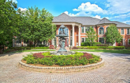 16,000 Square Foot Lakefront Brick Mansion In West Bloomfield Township, MI