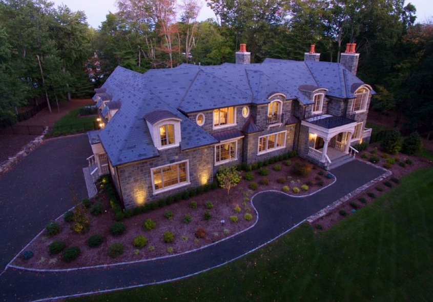 $6.395 Million Newly Built Stone Mansion In Saddle River, NJ
