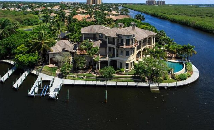 18,000 Square Foot Mediterranean Waterfront Mansion In Cape Coral, FL