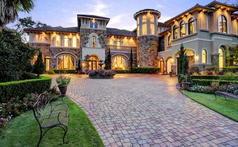 10 000 square foot mediterranean stone stucco mansion in Mediterranean style homes houston