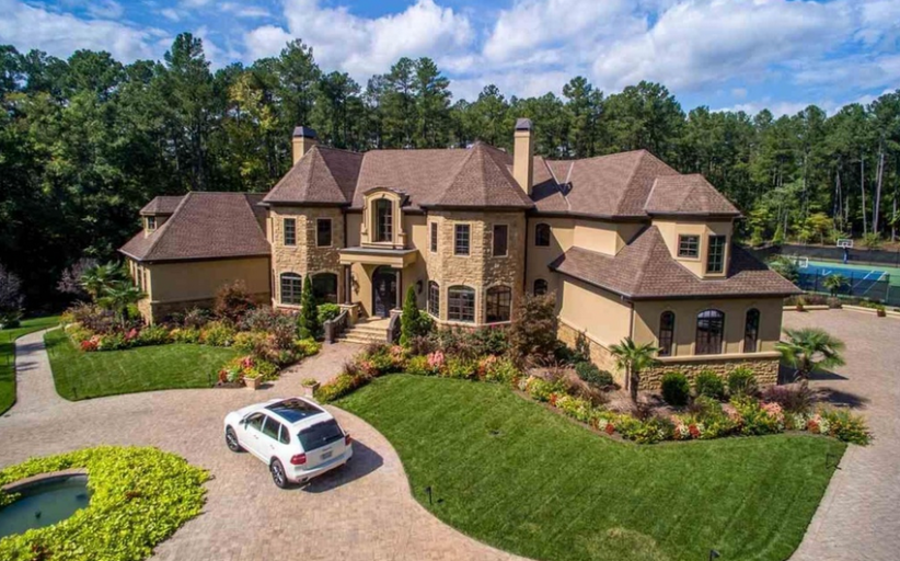 13,000 Square Foot European Inspired Stone & Stucco Mansion In Durham, NC