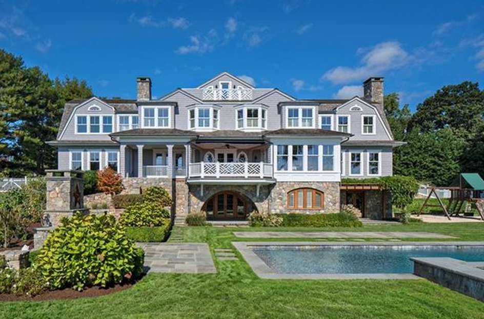 6 995 Million Stone Amp Shingle Colonial Mansion In
