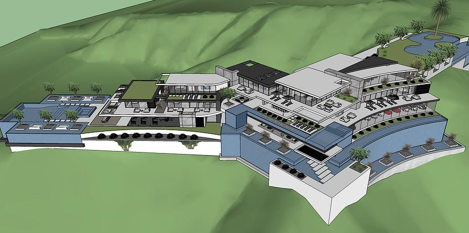 50,000 Square Foot Proposed Modern Mega Mansion In Beverly