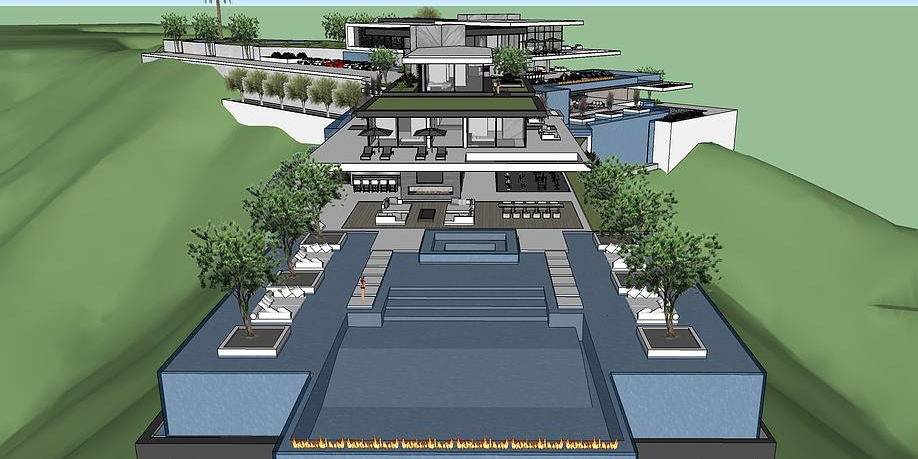 50 000 Square Foot Proposed Modern Mega Mansion In Beverly
