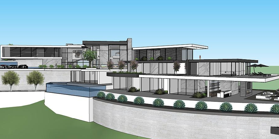 50000 Square Foot Proposed Modern Mega Mansion In Beverly