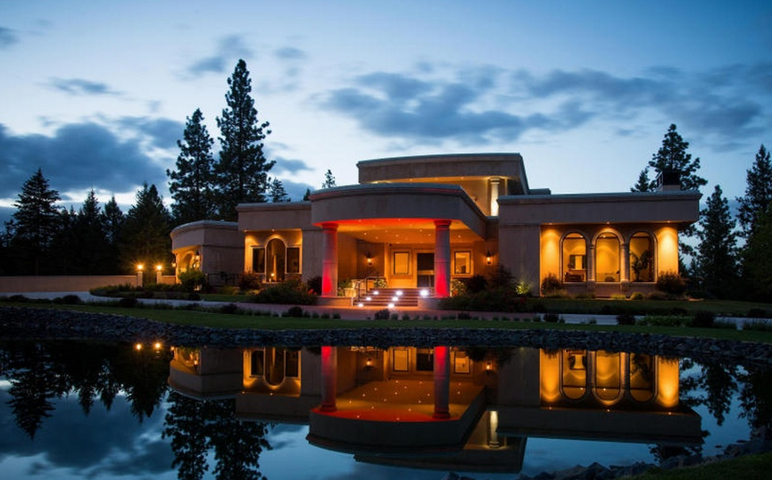 19 000 Square Foot Contemporary Mansion In Coeur D Alene