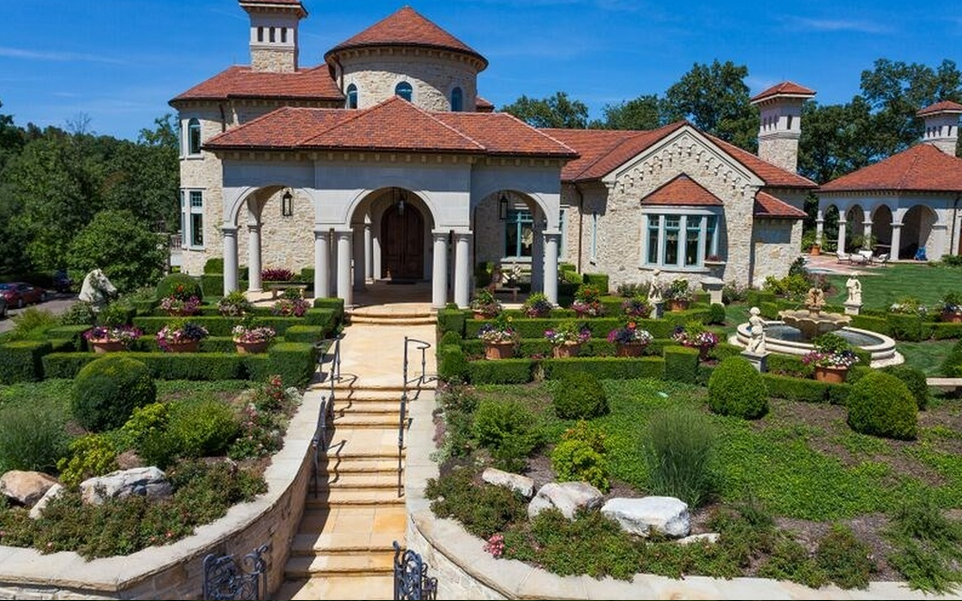 10 million italian inspired mansion on 35 acres in