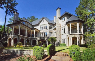 10,000 Square Foot European Inspired Lakefront Mansion In Greensboro, GA