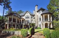 10,000 Square Foot European Inspired Lakefront Mansion In Greensboro, GA
