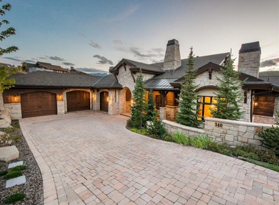 12 000 square foot stone wood mansion in park city ut for Utah house