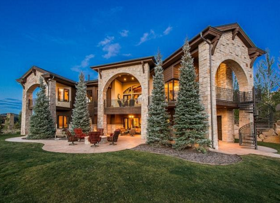 12000 Square Foot Stone Wood Mansion In Park City UT