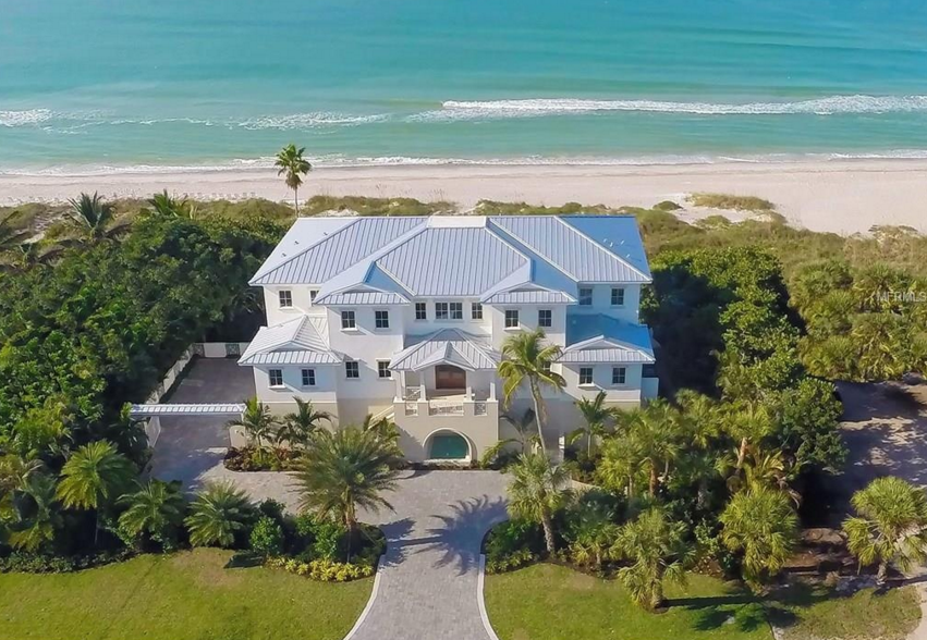 $7.395 Million Newly Built Beachfront Home In Longboat Key, FL