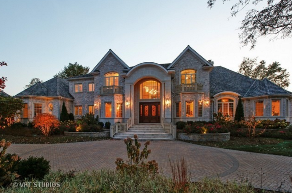 $3.599 Million Brick & Stone Home In Oak Brook, IL