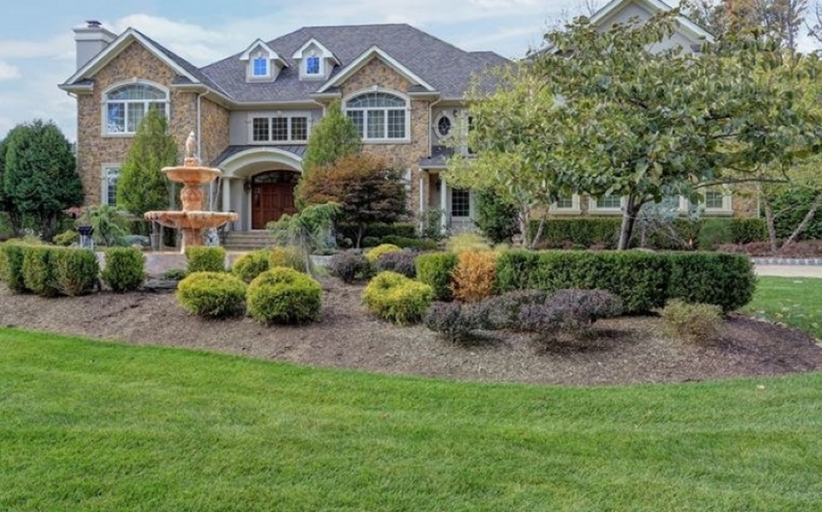 $4.899 Million Stone & Stucco Colonial Mansion In  Livingston, NJ