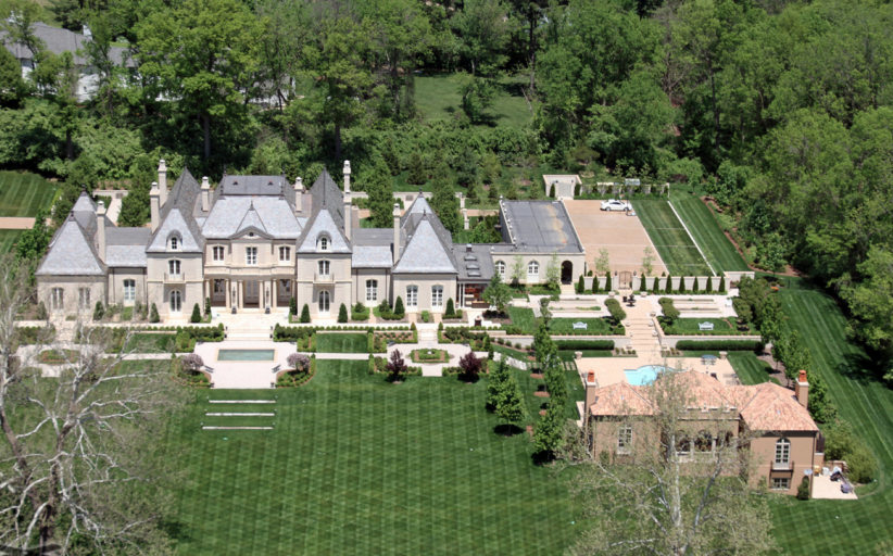 Aerial Pics Of A Stunning French Inspired Mansion In St. Louis, MO