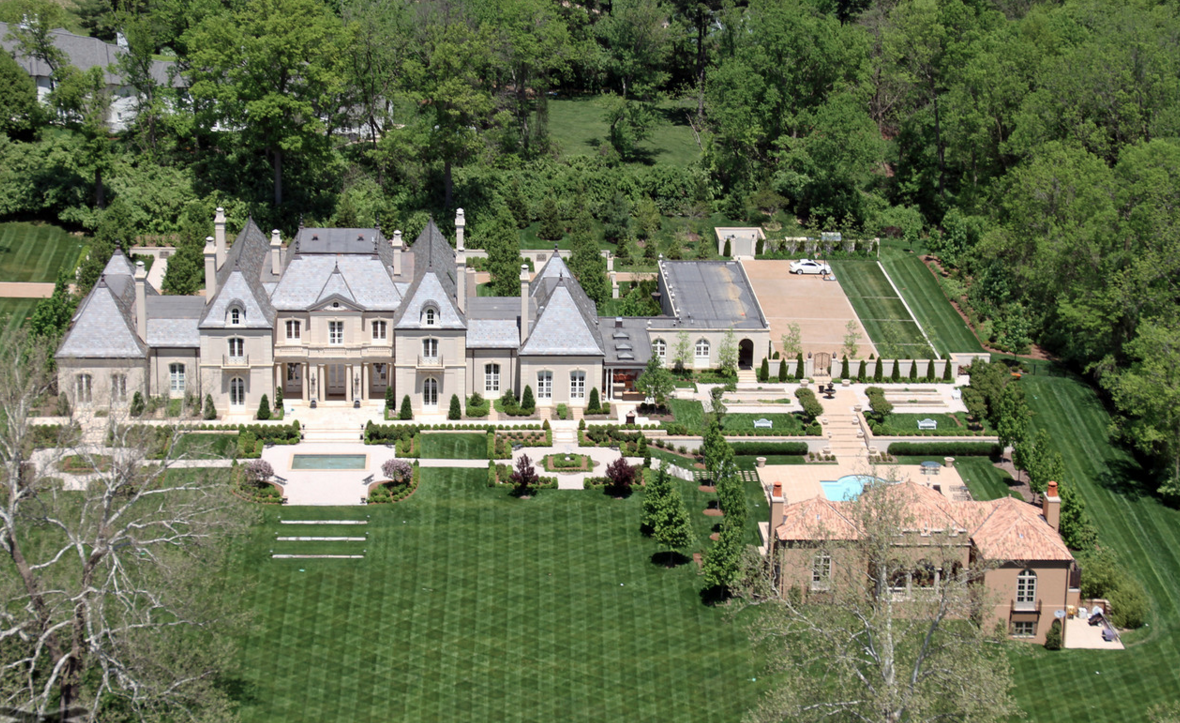 Aerial Pics Of A Stunning French Inspired Mansion In St Louis Mo on French Country Estate Home Plans
