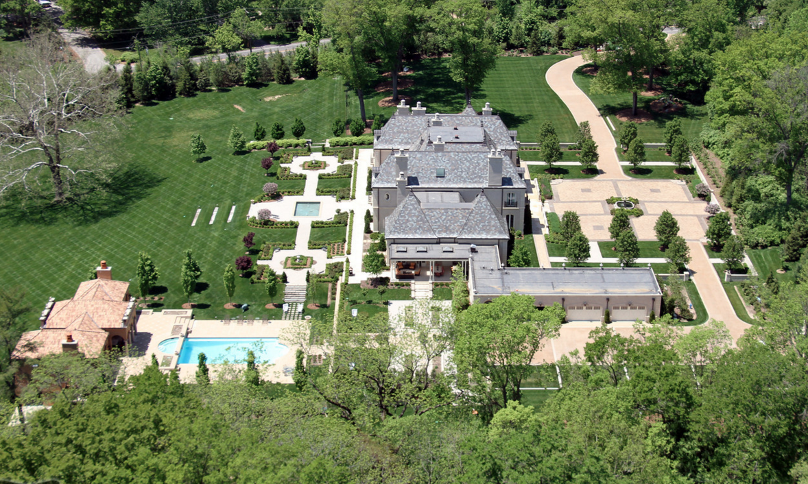 Aerial Pics Of A Stunning French Inspired Mansion In St