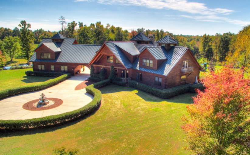 11,000 Square Foot Timber & Log Mansion In Charlotte, NC For Under $2 Million