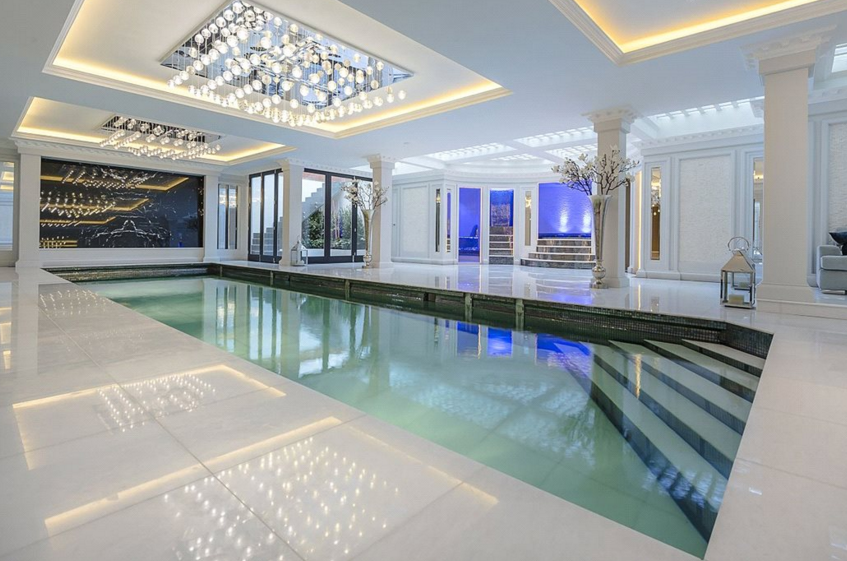 Newly built mansion in london england homes of the rich - Houses with swimming pools in london ...