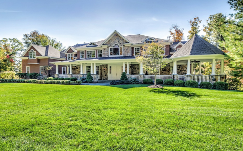 $2.895 Million Stone & Shingle Home In Basking Ridge, NJ