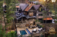 $17.9 Million Wood & Stone Mansion In Bozeman, MT