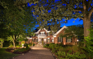 14,000 Square Foot Brick Colonial Mansion In Naperville, IL