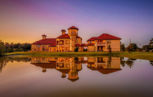 10,000 Square Foot Newly Built Lakefront Mediterranean Mansion In Cypress, TX