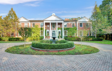 10,000 Square Foot Lakefront Brick Georgian Mansion In Lake Forest, IL