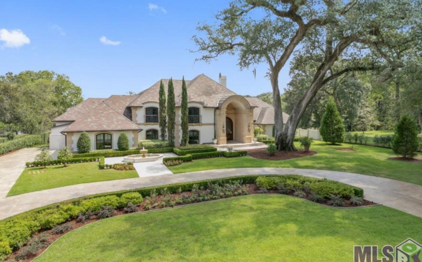$5 Million Lakefront Mediterranean Mansion In Baton Rouge, LA