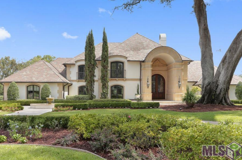 5 million lakefront mediterranean mansion in baton rouge for House plans in baton rouge