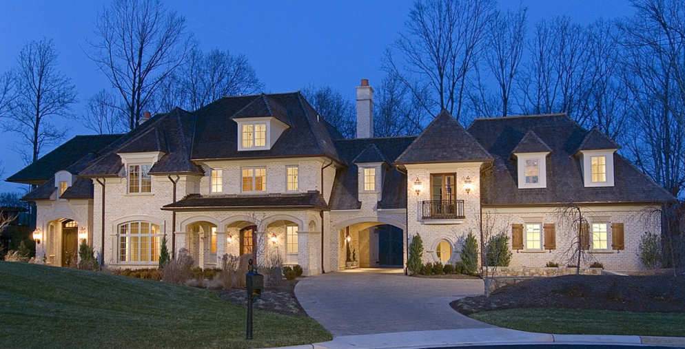 10,000 Square Foot Brick Mansion In McLean, VA