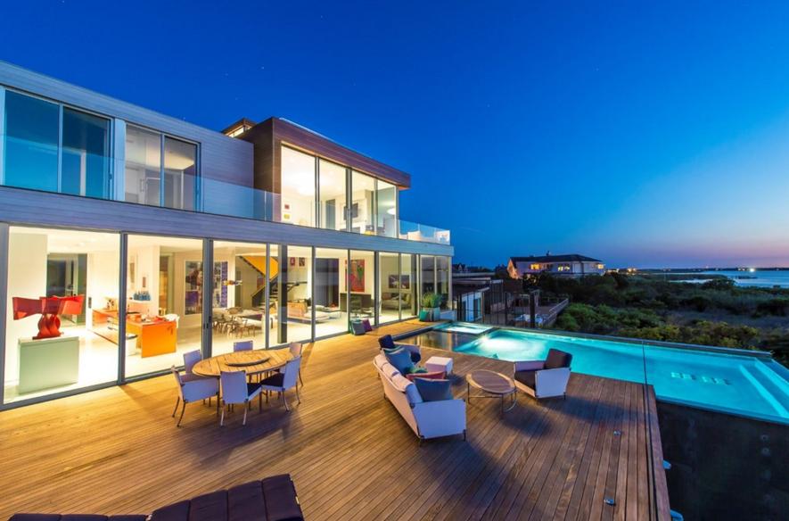 $22.995 Million Newly Built Modern Waterfront Home In Bridgehampton, NY